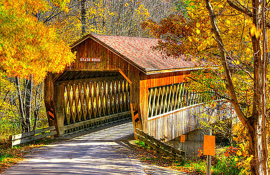 Ohio Country Roads - State Road Covered Bridge Over Conneaut Creek No. 11 - Ashtabula County by Michael Mazaika