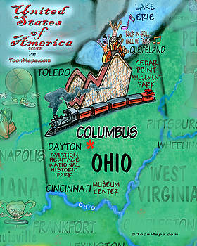 Ohio Fun Map by Kevin Middleton