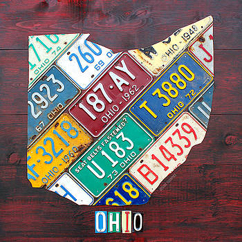 Ohio License Plate Map Edition 2 by License Plate Art and Maps