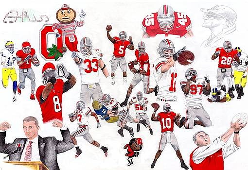 Ohio State Collage by Gerard  Schneider Jr