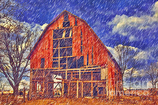 Ohio's Champaign County Barn by L Wright