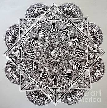 Ohm Mandala by Usha Rai