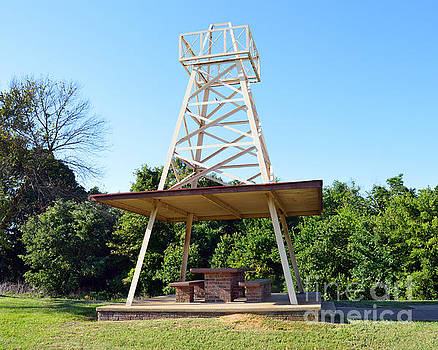 Oil Derrick Picnic Table by Catherine Sherman