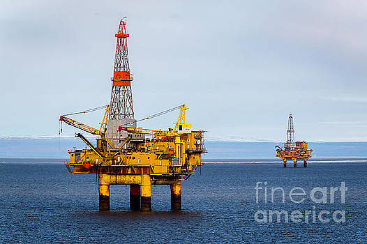 Oil Platform Rigs by Sal Ahmed