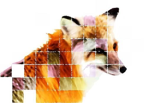 Fox Lost in the Sea of Science by Paulo Guimaraes