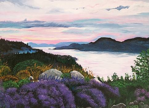 Okanagan Lake Canada  by Sharon Duguay