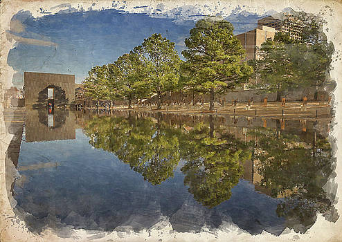 Ricky Barnard - OKC Memorial Watercolor VIII
