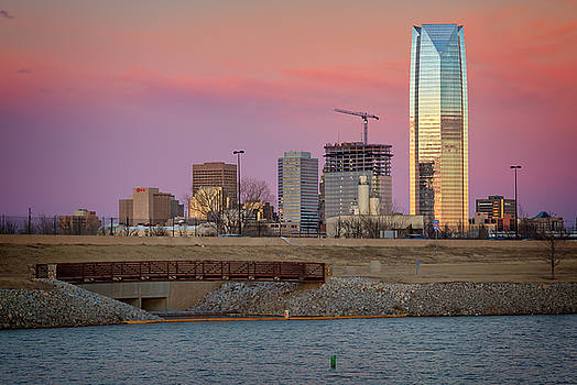 OKC Sunset by Ricky Barnard