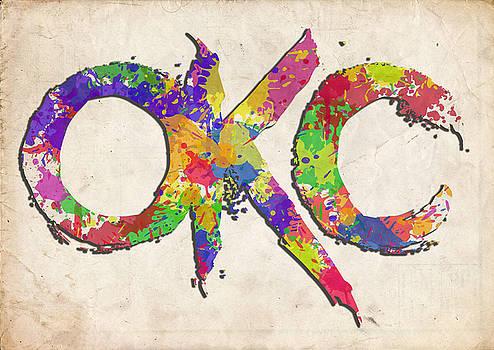 Ricky Barnard - OKC Typography Watercolor