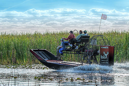 Okeechobee Airboat Journey by Richard Goldman