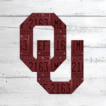 Design Turnpike - Oklahoma Sooners College Team License Plate Art Logo