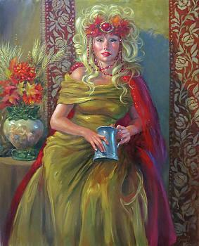 Oktoberfest Goddess  by Johanna Girard