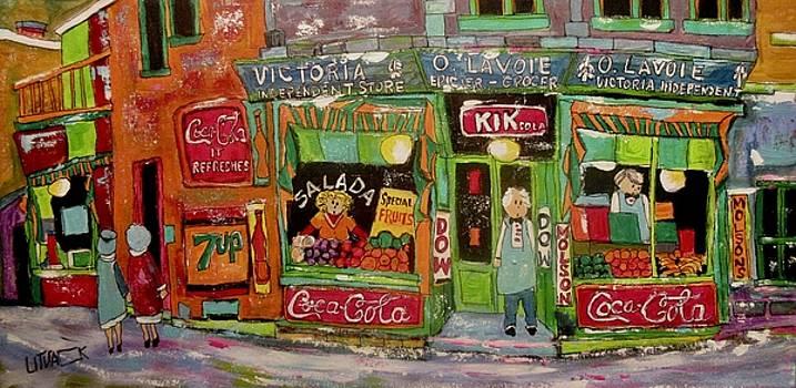 Vintage O.Lavoie Epicier Grocery 3837 St. Jacques Montreal by Michael Litvack
