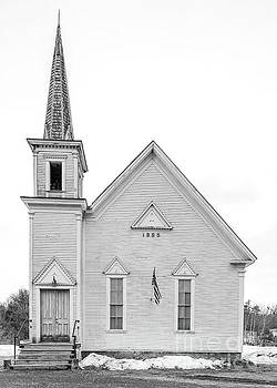 Old 1885 White Church in Newport New Hampshire by Edward Fielding