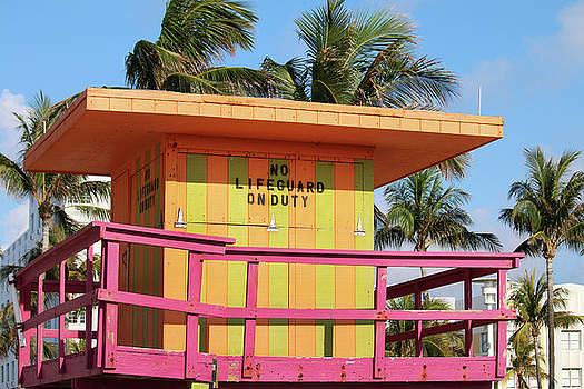 Old 30th Street Lifeguard Tower by Art Block Collections
