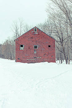 Old Abandoned Barn in Winter by Edward Fielding