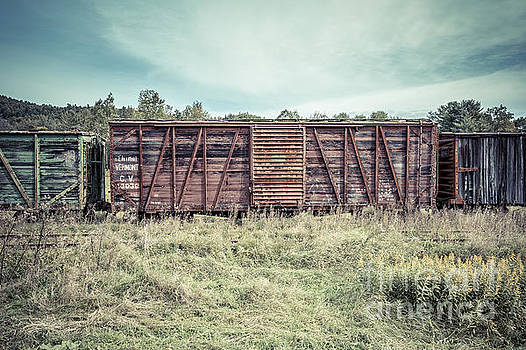 Edward Fielding - Old Abandoned Box Cars Central Vermont