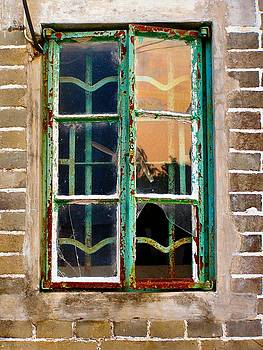 Old abandoned house Broken Window print by Kathy Daxon