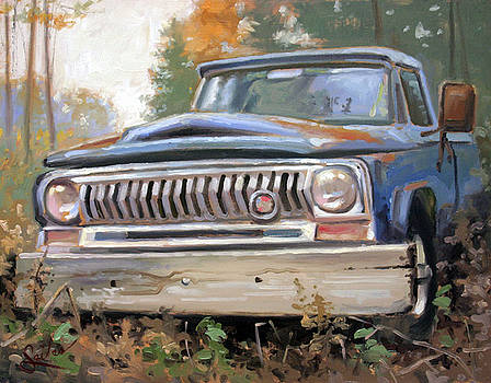 Old Abandoned Jeep International by Larry Seiler