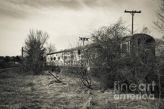 Old Abandoned Railroad Passenger Car Cape Cod by Edward Fielding
