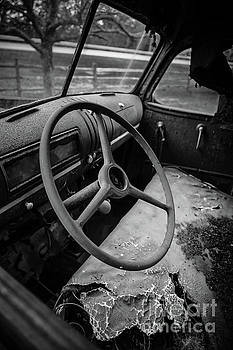 Old Abandoned Truck Interior by Edward Fielding