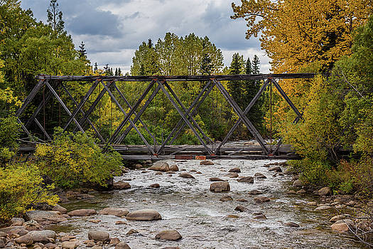 Old Alaskan Bridge in Autumn by Catherine Trevor-Roberts