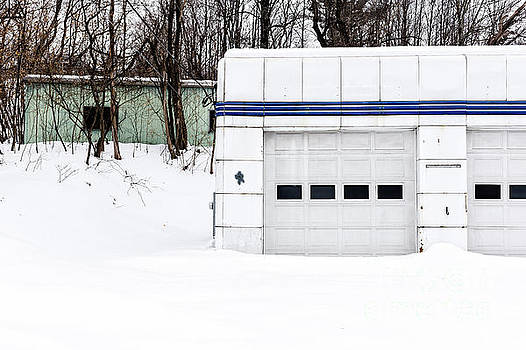 Edward Fielding - Old Art Deco Gas Station Woodstock Vermont