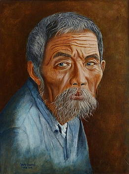 Old Asian Worker by David Hawkes