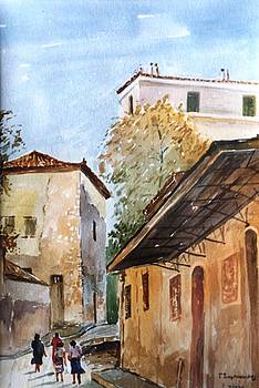 Old  Athens-Plaka by George Siaba