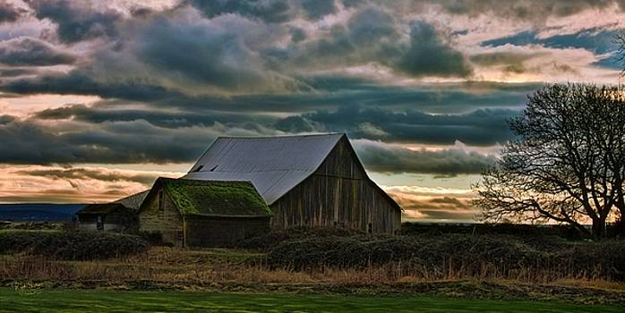 Old Barn and Clouds by Rick Lawler