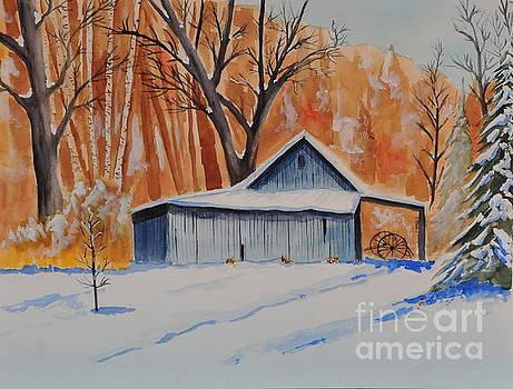 Old Barn I by John W Walker