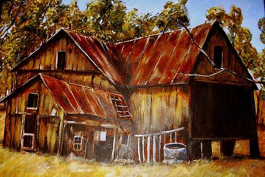 Old Barn in Autumn by Joseph Baker