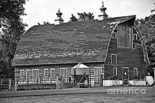 Old Barn In Black And White by Kathy M Krause