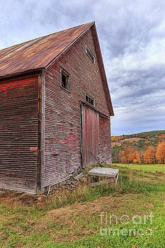 Old Barn Jericho Hill Vermont in Autumn by Edward Fielding