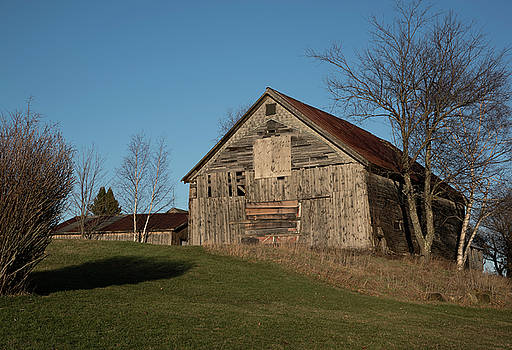 Old Barn On A Hill by John Forde