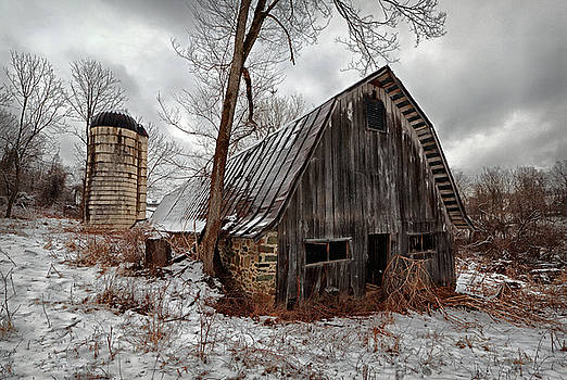 Old Barn Winter by Scott Fracasso