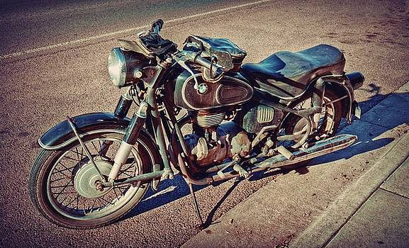 Old Beamer Motorcycle by Linda Unger