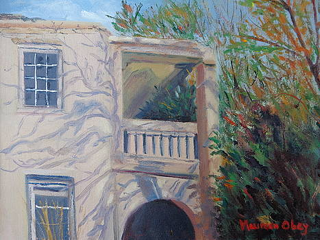 Old Bermuda Porch by Maureen Obey