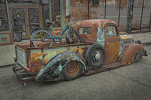 Old Bike in Old Truckbed by Rick Strobaugh