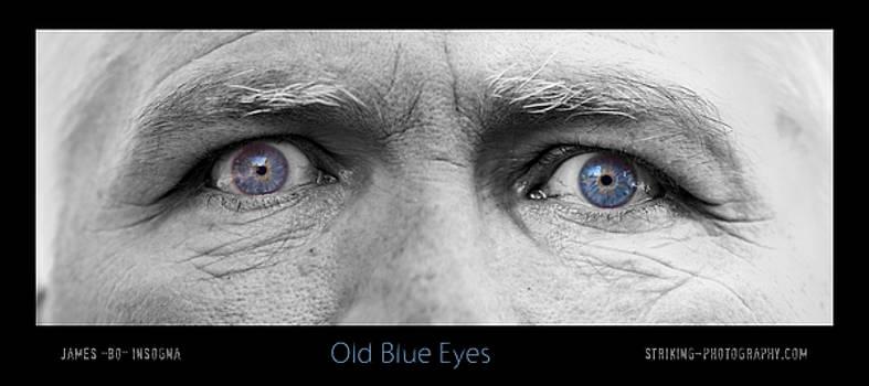 James BO  Insogna - Old Blue Eyes Poster Print