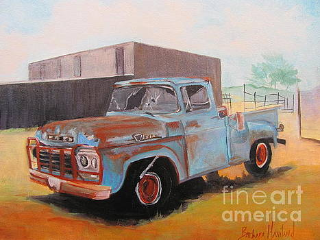 Old Blue Ford Truck by Barbara Haviland