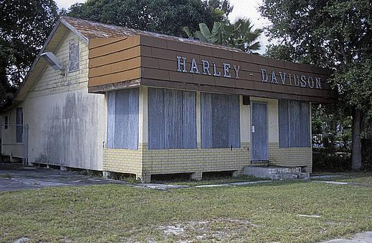 Old Boarded Up Harley Davidson Shop by Richard Nickson