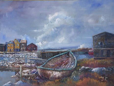 Old Boat at Peggy's Cove by Tim Ford