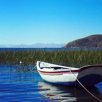 Old Boat On Lake Titicaca #bolivia by Dante Harker