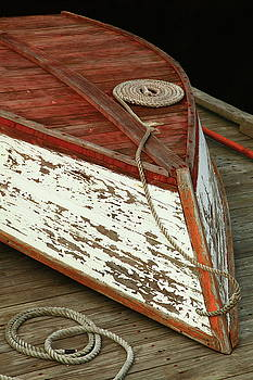 Old Boat on the Dock by Roupen  Baker