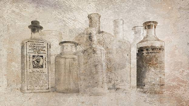 Barbara Henry - OLD BOTTLES WITH TEXTURE