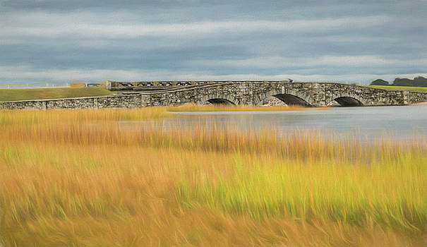 Old Bridge in Autumn by Nancy De Flon