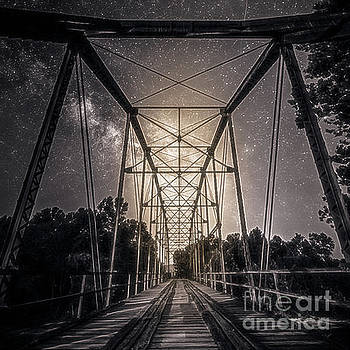 Old Bridge in the Moonlight by Peggy Franz