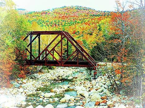 Old Bridge - New Hampshire Fall Foliage by Joseph Hendrix