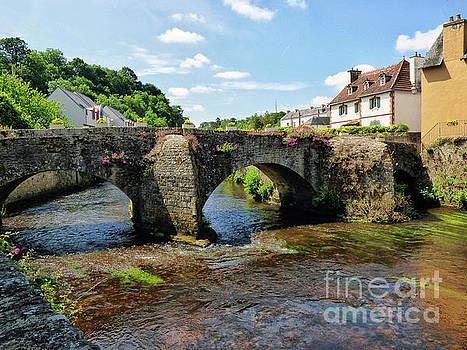 Old Bridge over Elle River Quimperle, France by Lynn Bolt